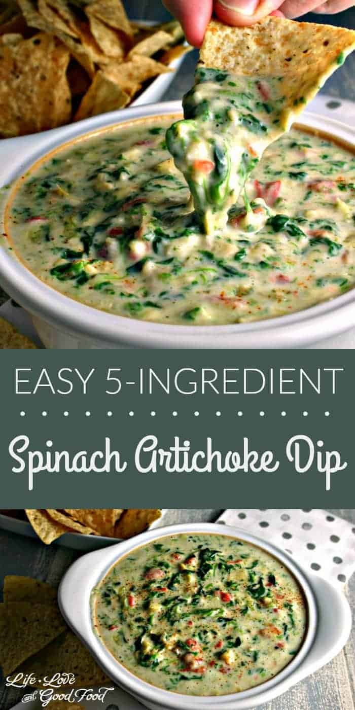 Easy Spinach Artichoke Dip | Life, Love, and Good Food
