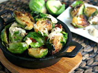 Charred Brussel Sprouts with Garlic Aioli