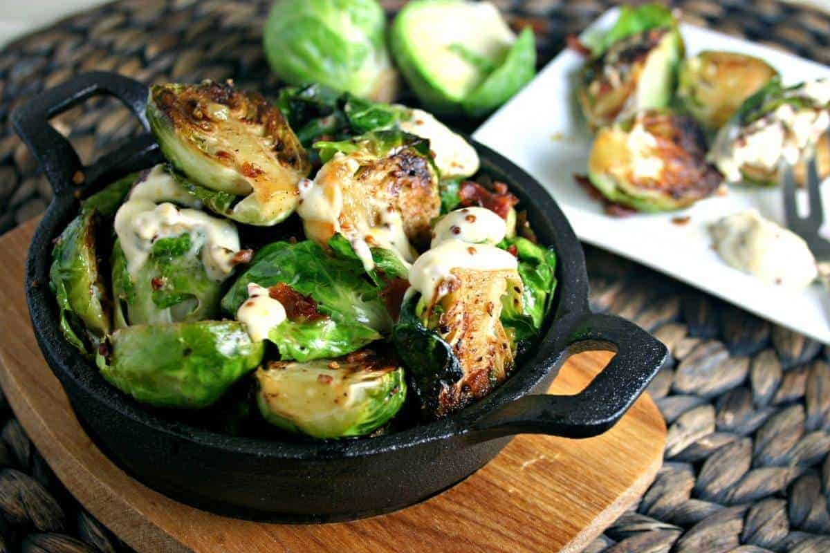 Charred Brussel Sprouts with Garlic Aioli | Life, Love, and Good Food