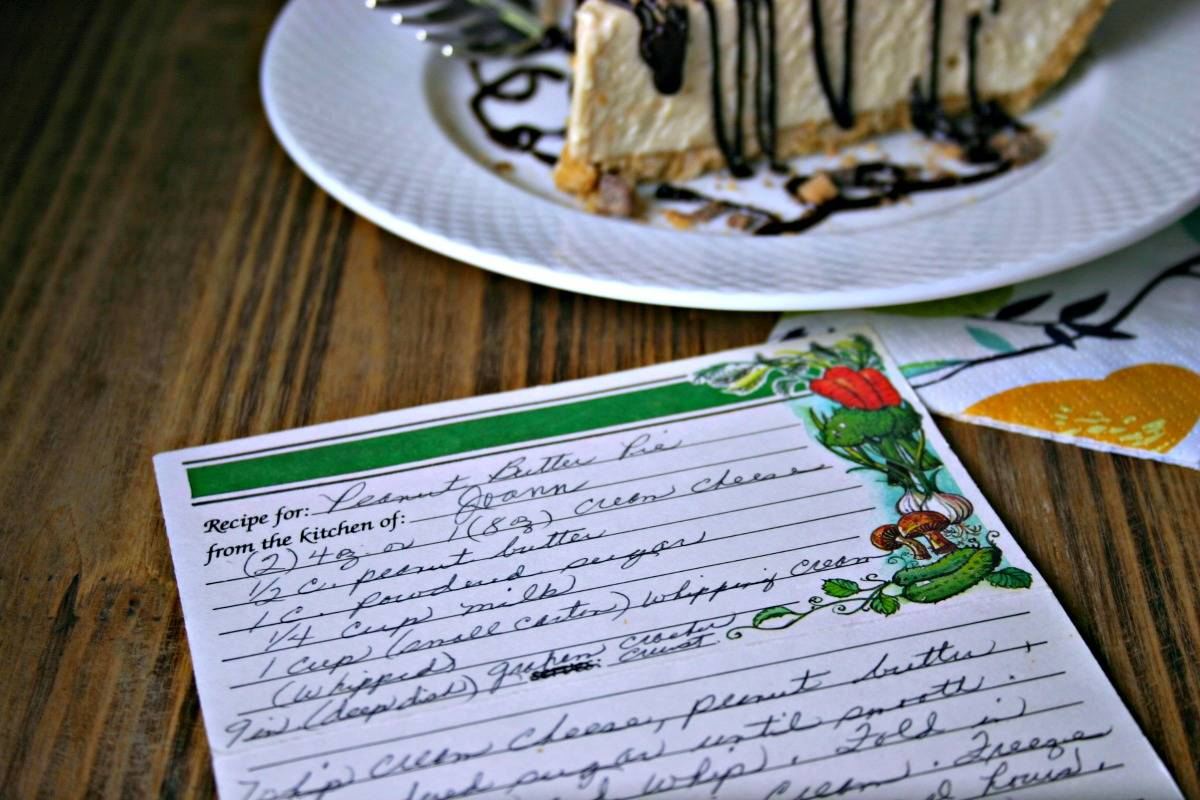 A hand-written recipe on a table