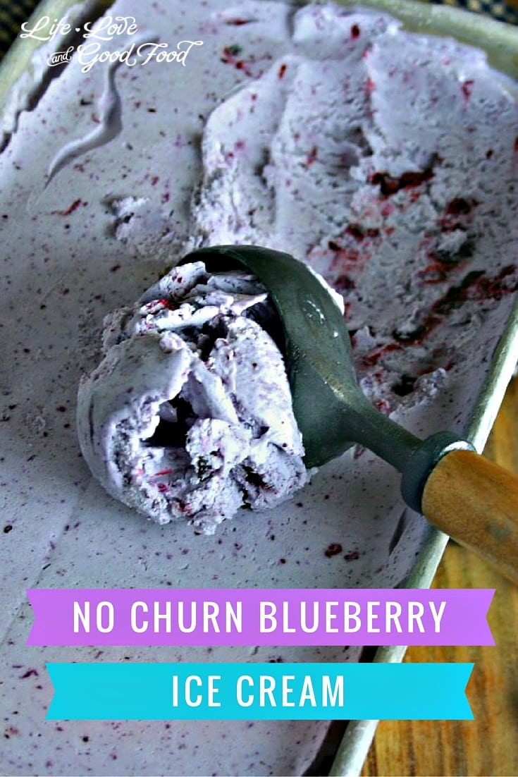 No Churn Blueberry Ice Cream | Life, Love, and Good Food