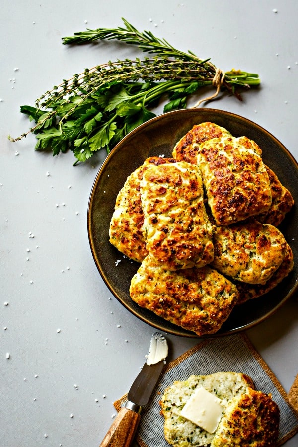 Savory Ricotta Scones with butter