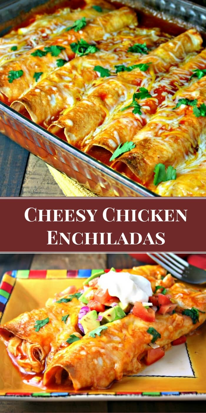 Cheesy Chicken Enchiladas | Life, Love, and Good Food #sponsored