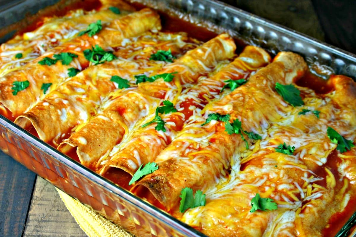 Cheesy Chicken Enchiladas - Life, Love, and Good Food