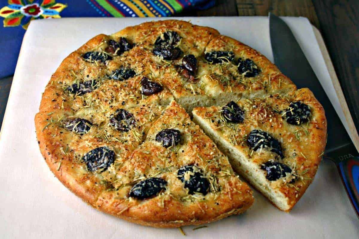 Greek Olive Focaccia Bread | Life, Love, and Good Food