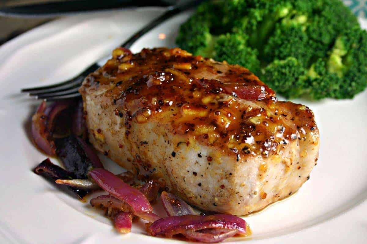 Orange-Mustard Glazed Pork Chops | Life, Love, and Good Food