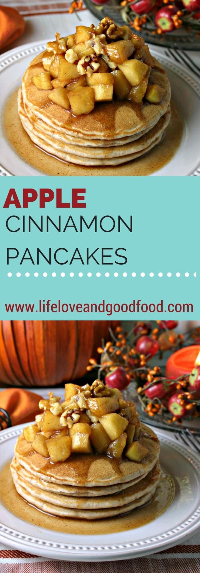 Apple Cinnamon Pancakes {#nationalpancakeday} - Life, Love ...