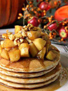 Apple Cinnamon Pancakes   lifeloveandgoodfood.com