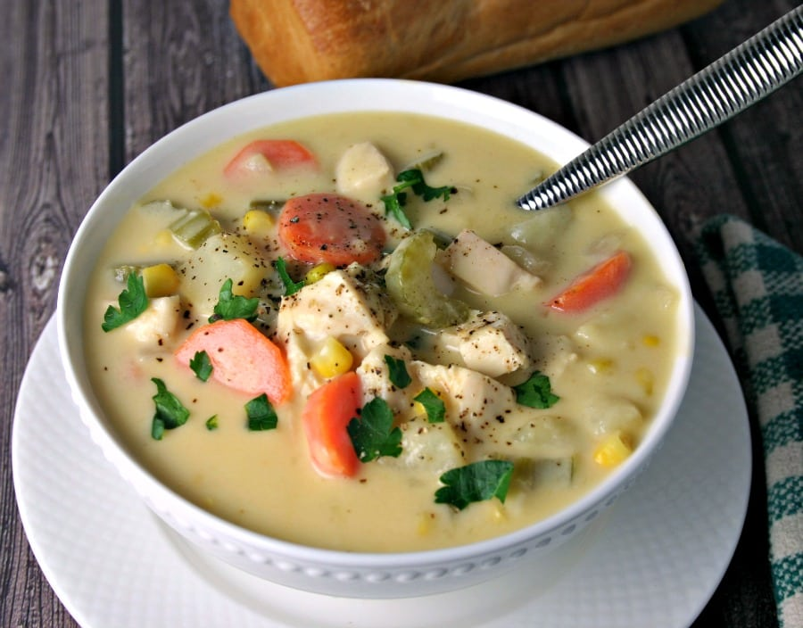 Cheesy Chicken Vegetable Chowder | Life, Love, and Good Food