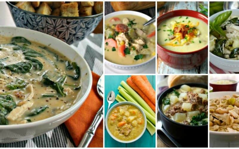 Seven Savory Slow Cooker Soups