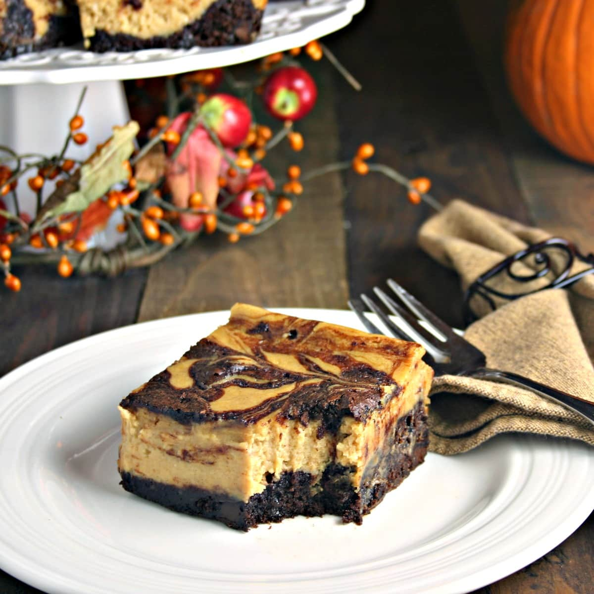 Pumpkin Cheesecake Brownies - Life, Love, and Good Food
