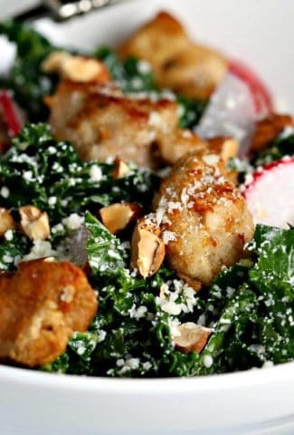 Chicken Kale Caesar Salad | Life, Love, and Good Food