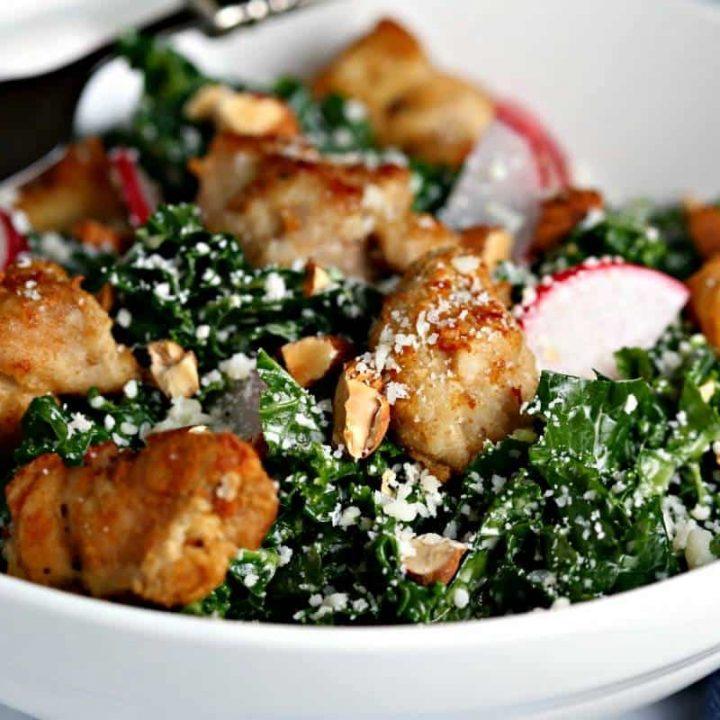 Chicken Kale Caesar Salad   Life, Love, and Good Food