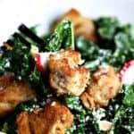 Chicken Kale Caesar Salad | Life, Love, and Good Food