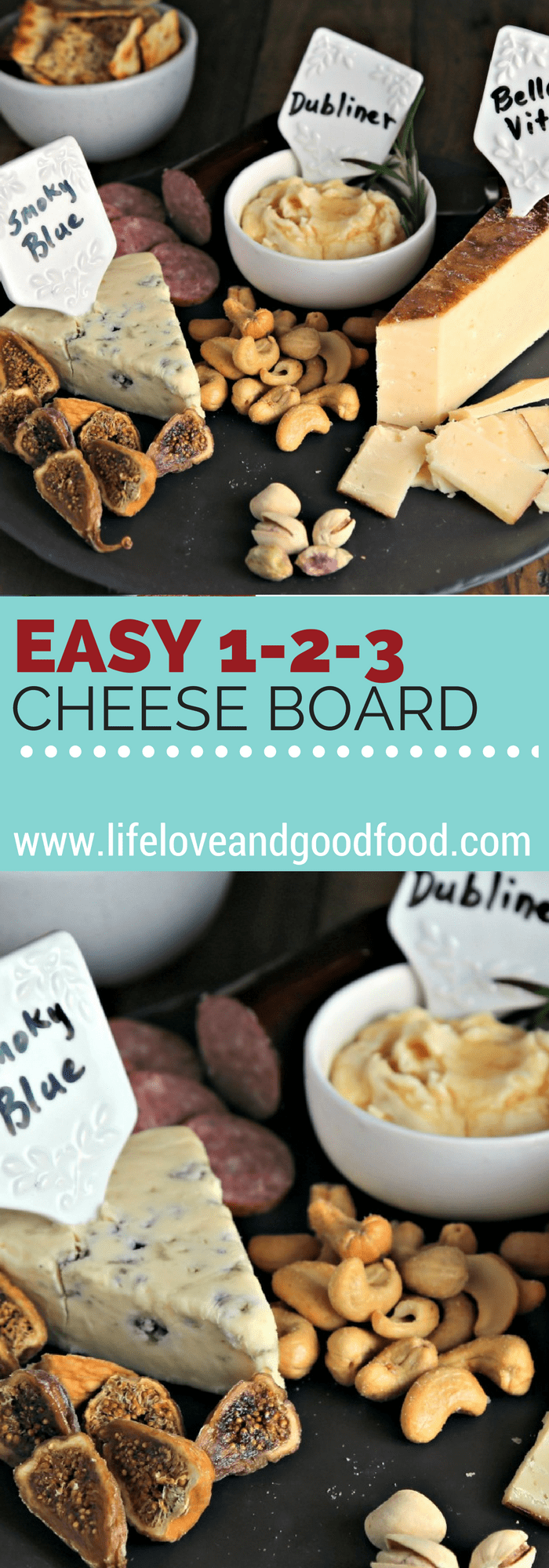 Easy 1-2-3 Cheese Board | Life, Love, and Good Food