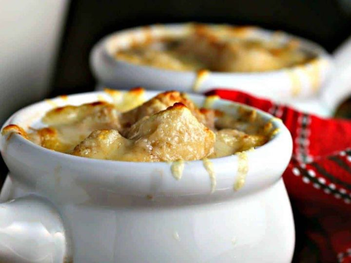 A bowl of French Onion Soup