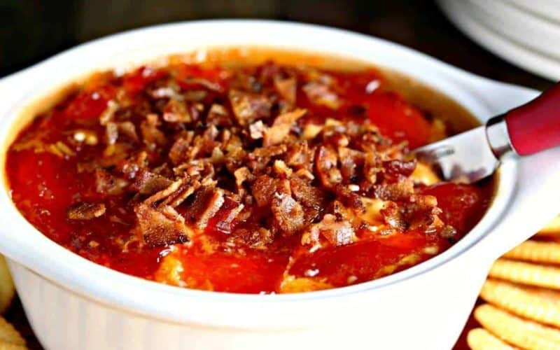 Hot Pepper Jelly Cheese Dip with Bacon