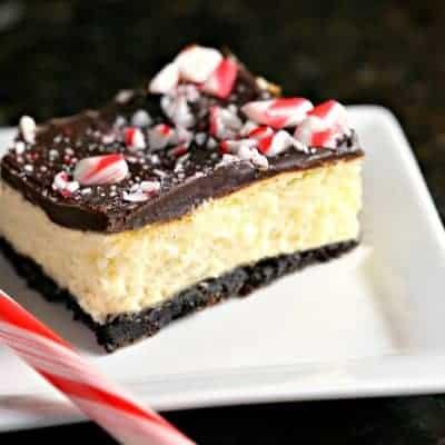 Peppermint Cheesecake Bars