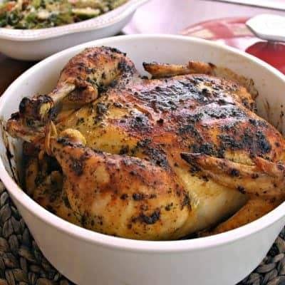 Sweet Basil Roasted Chicken