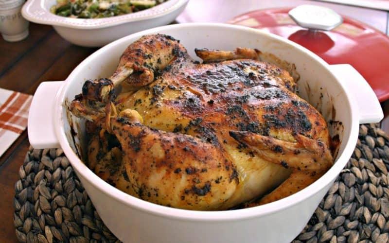 Sweet Basil Roasted Chicken