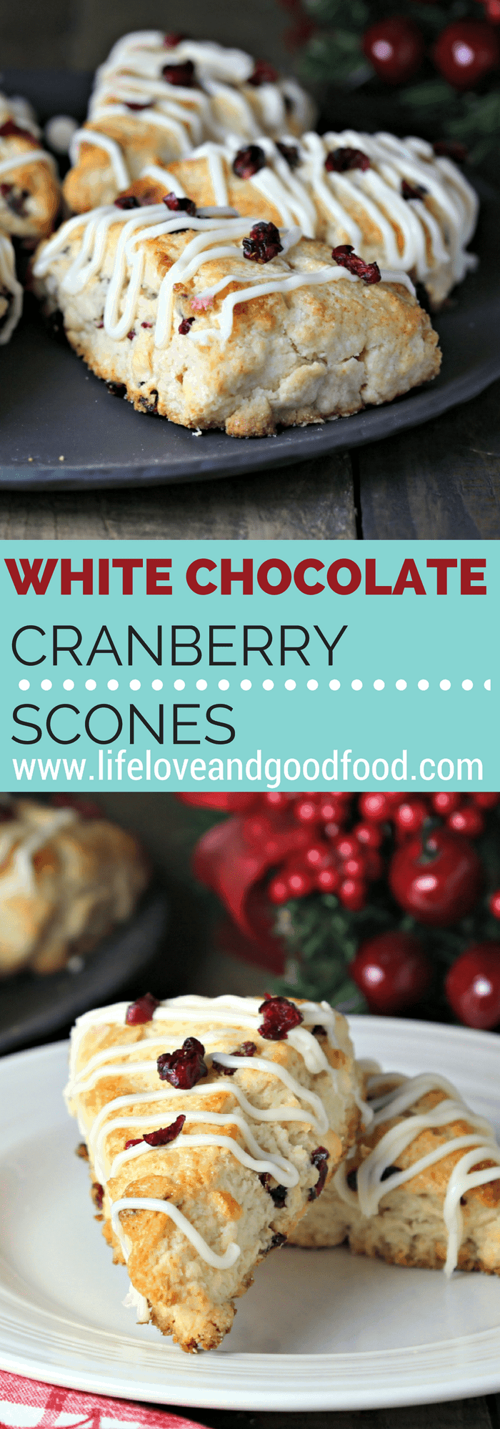 White Chocolate Cranberry Scones | Life, Love, and Good Food #ad @ImmaculateBakes