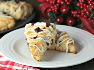 Immaculate Holiday Treat: White Chocolate Cranberry Scones