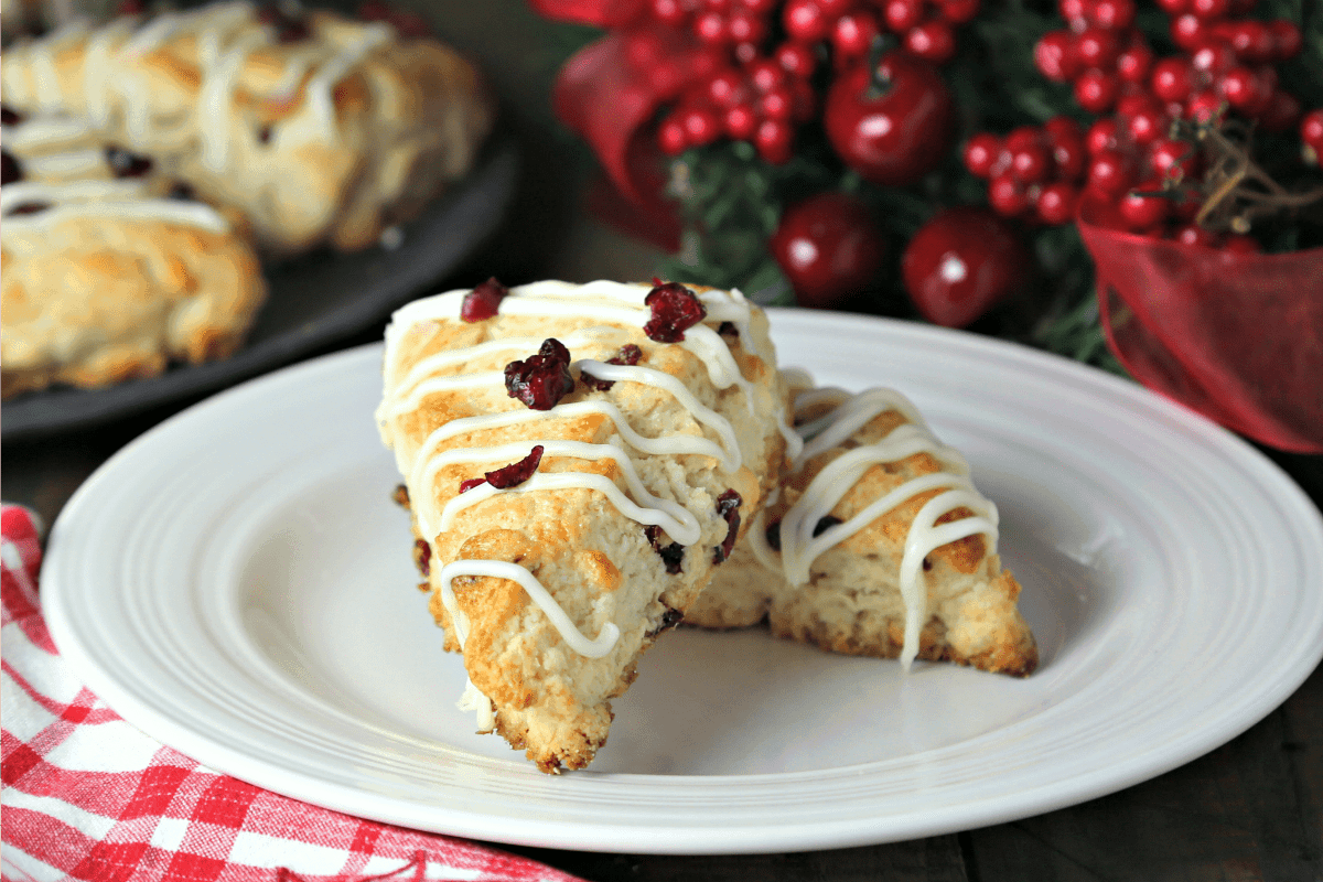 White Chocolate Cranberry Scones | Life, Love, and Good Food