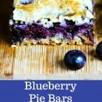 Blueberry Pie Bars — easy crumb bars made with fresh berries