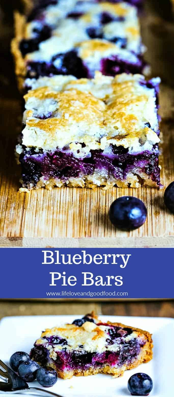 A hand-held blueberry pie? You betcha! Blueberry Pie Bars have a shortbread crust, fruity filling and crumble topping, and don't necessarily require a fork!