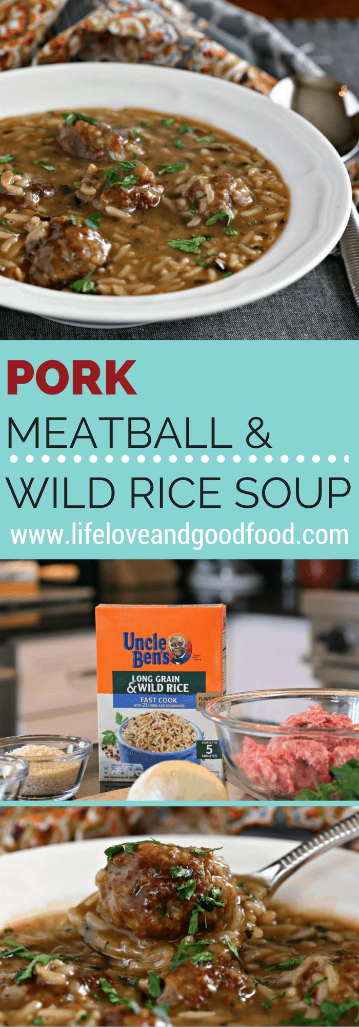 PORK MEATBALL & WILD RICE SOUP | Life, Love, and good food