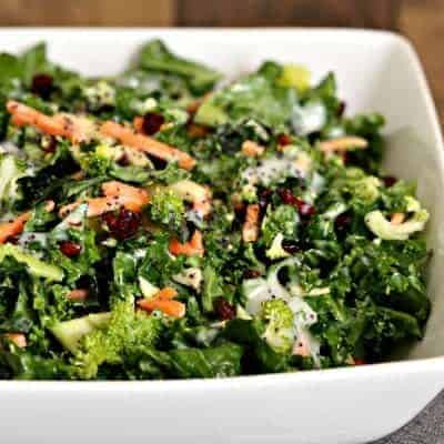 Poppy Seed Kale Salad
