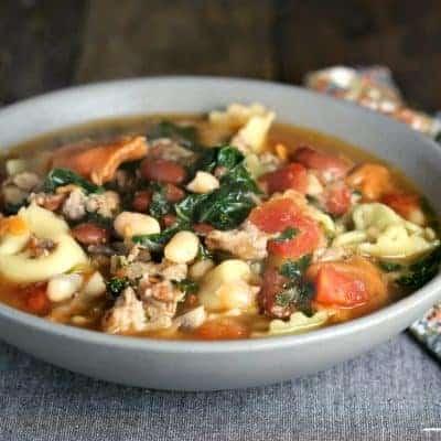 Rustic Sausage Tortellini Soup