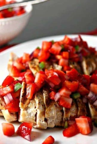 Grilled Chicken and Strawberry Salsa | Life, Love, and Good Food