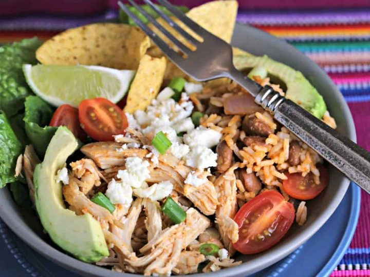 Tex-Mex Chicken Burrito Bowl | Life, Love, and Good Food