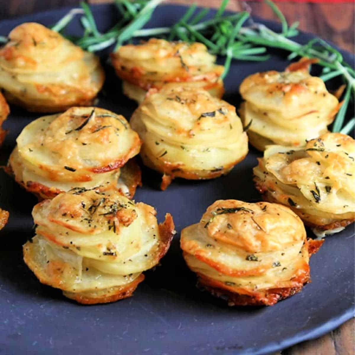 asiago potato stacks