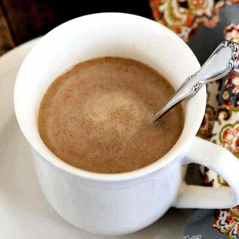 Chai tea in a white mug