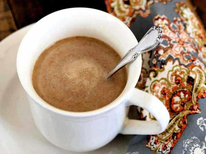a mug of chai tea made with instant mix