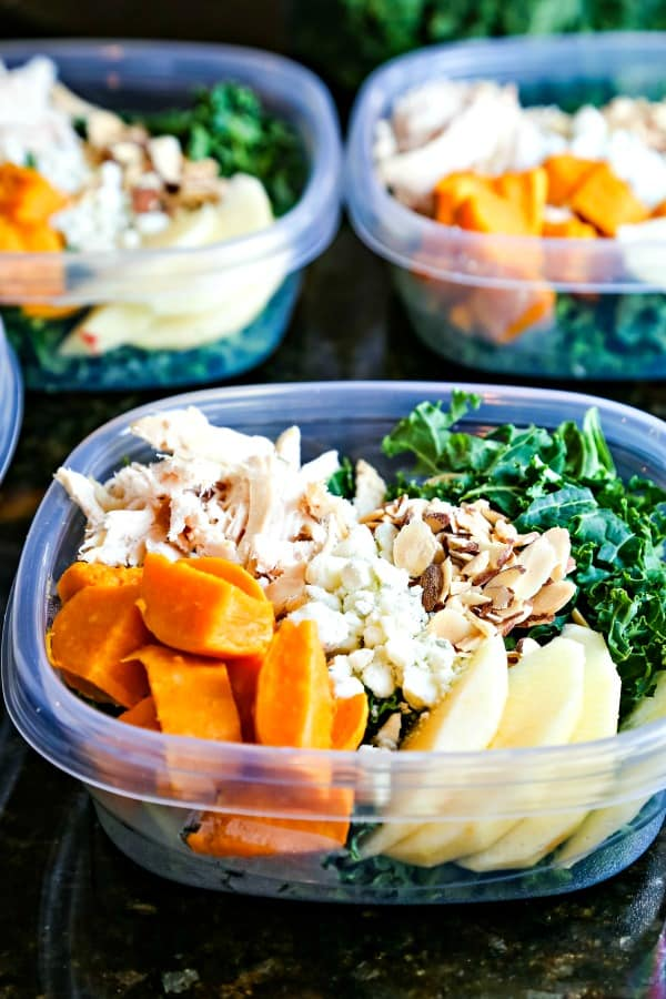 Harvest Chicken Salad with sweet potatoes
