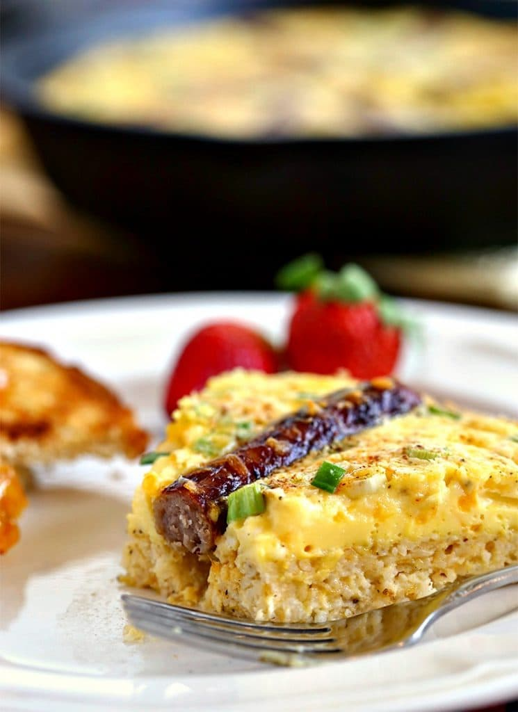 Rustic Sausage & Grits Egg Skillet | Life, Love, and Good Food