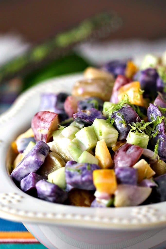 Rainbow Lime Potato Salad   Life, Love, and Good Food