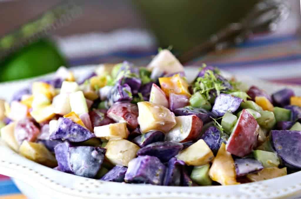 Tri-Color Lime Potato Salad   Life, Love, and Good Food