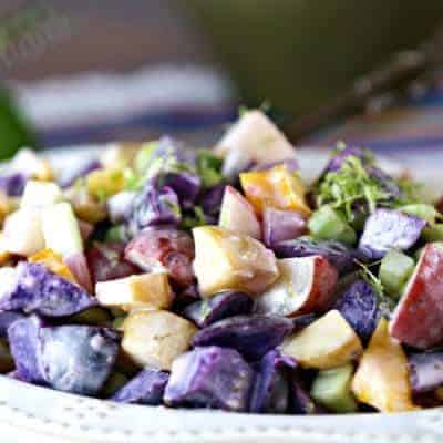 Rainbow Lime Potato Salad