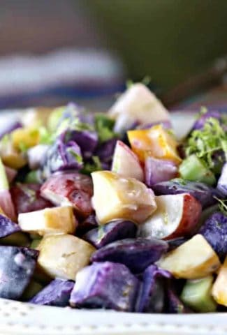 Tri-Color Lime Potato Salad | Life, Love, and Good Food