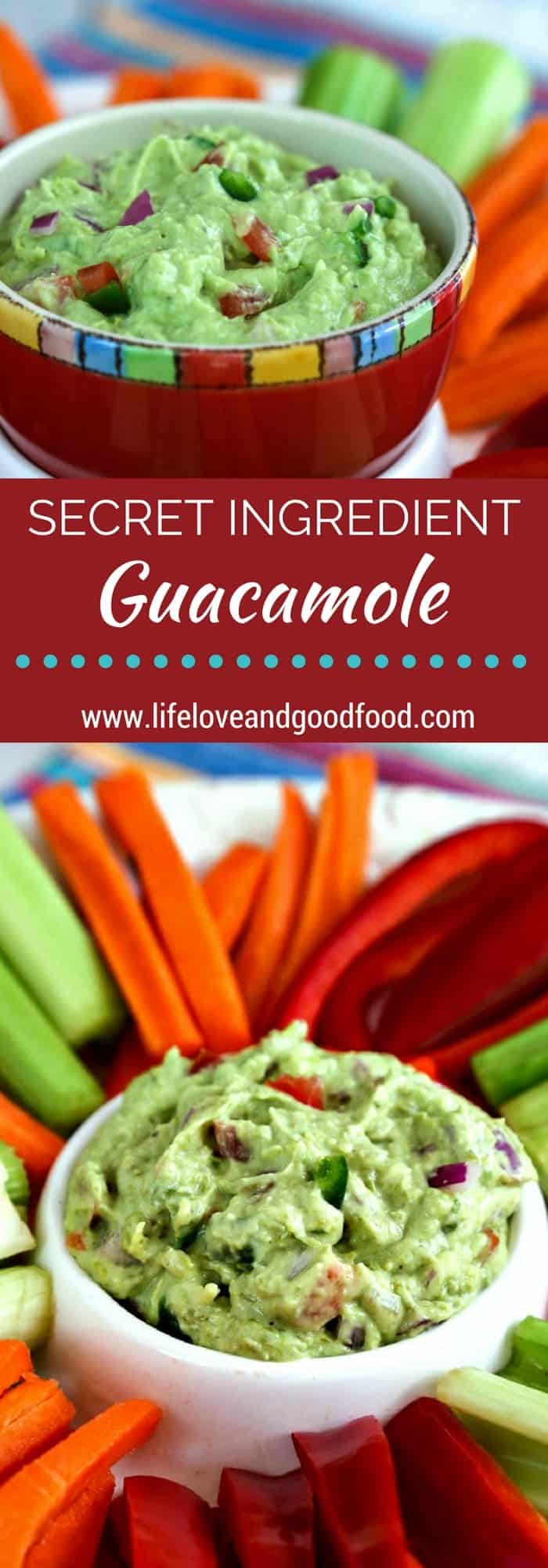 A secret ingredient in this deliciously creamy dip adds more vitamins and nutrients to your traditional guacamole recipe. Eat it with veggie sticks for a guilt-free, heart-healthy snack!