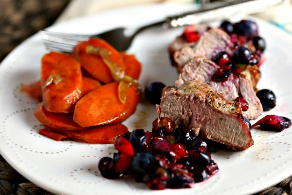 Grilled Pork Tenderloin with Blueberry Salsa - Life, Love ...
