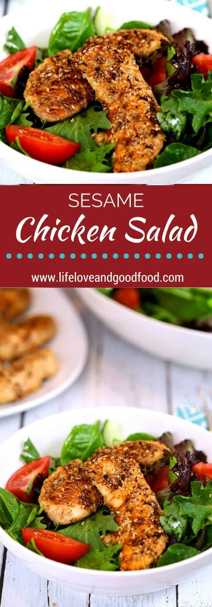 You'll love this recipe for Sesame Chicken Salad with a fresh ginger-infused vinaigrette. And, the fact that it's heart healthy is an added bonus!