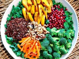 Super Food Salad with Ginger Sesame Dressing