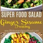 Super Food Salad with Ginger Sesame Dressing | Life, Love, and Good Food