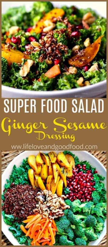 Super Food Salad with Ginger Sesame Dressing | Life, Love, and Good Food