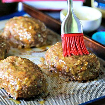 Turkey Mini Meat Loaf with Honey Dijon Glaze